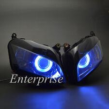 Headlight HID Light Projector Custom Blue Angel Eyes for Honda CBR 600RR 2007-12