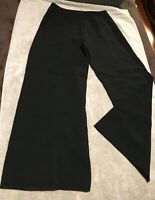 Women's Anne Klein Black Wide Leg Evening / Dress / Career Pants - Sz 8 - XLNT!