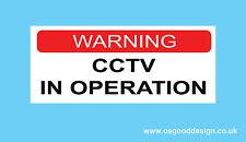 WARNING CCTV IN OPERATION Alarm Security Cameras CCTV Home Door Sticker A53