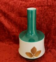 Porzellan P.T. Tirschenreuth Weiß Grün Gold Vase Design Ø 4-14cm H 25cm MG-11