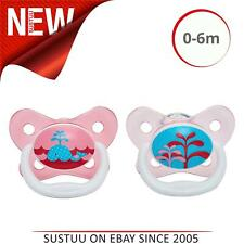 Dr Brown's PreVent Soother│Baby's Pacifier│Stage 1 Dummies│Pink│0-6m│2pk