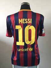 MESSI #10 Barcelona Home Football Shirt Jersey 2013/14 (L)