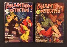 2 Vintage PHANTOM DETECTIVE Pulp Magazines September & October 1939 Original