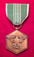 """VINTAGE WW2 """"FOR MILITARY MERIT"""" MEDAL WITH GREEN/WHITE RIBBON"""