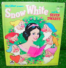 Vintage Walt Disney Snow White And The Seven Swarfs A Golden Book 1957 1950s