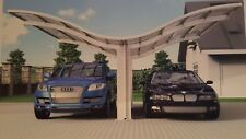 LARGE CAR PORT DOUBLE SUN SHADE Shelter Outdoor Patio Decking building Site
