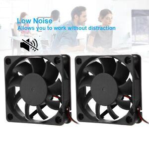 2Pcs Silent 12V 60mm 6015 6000 RPM DC Brushless Cooling Fan for 3D Printer NEW