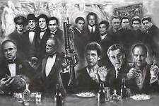 GANGSTER COLLAGE - ART POSTER 24x36 MAFIA TV MOVIE 52221