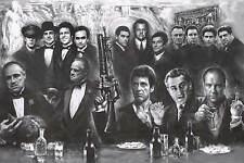 Gangster Collage - Art Poster 24x36 Mafia Tv Movie 52221