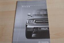 133393) Toyota HiLux - Preise & tech. Daten & Ausstattungen - Prospekt 01/2000