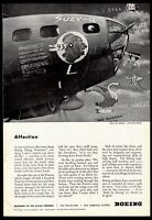 1943 WW II BOEING B-17 Flying Fortress Bomber Nose Art WWII WW2 Photo AD