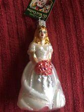Owc Glass Christmas Ornament - Old World Christmas Bride w/Tag