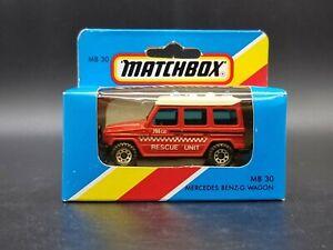 VINTAGE Matchbox Superfast MB30 Mercedes G Wagon Rescue Vehicle 1981 Macau mint