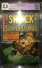 Shock SuspenStories #15 CGC 3.5 Off White Strangulation Cover EC Comics Horror