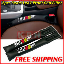 2pcs PU Leather Car Seat Leakproof Stop Gap Filler Pad Seam Holster Ralliart