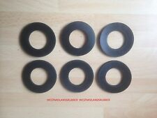 """6 LARGE RUBBER WASHERS  1⅞  O/D  X   1"""" hole    X  3MM  THICK"""