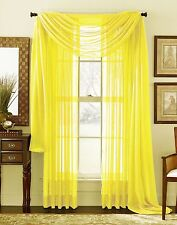 SOLID SHEER WINDOW 1 PIECE PANEL / CURTAIN VOILE MANY COLORS ROD POCKET 84""