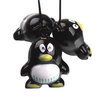 25x Wholesale Black Penguin Brass Jingle Bells Christmas Party Festival Charms C