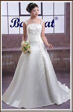 Brautkleid Hochzeitskleid Kleid für Braut weiß sofort lieferbar BC024W Gr. 48