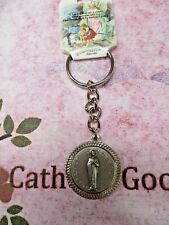 "4""  Silver Tone - Our Lady of the Highway -  Key Chain"