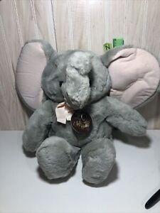 "Rare VTG Dakin Playthings Baby Soft Classics Plush Stuffed Elephant 1987 18"""