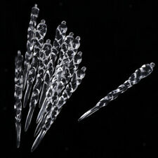 10Clear Acrylic Icicle Ornaments Christmas Tree Hanging Crystals Decoration
