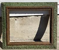 "Ornate Antique Vintage Wooden Art Picture Mirror Frame No Glass 16 x 20"""