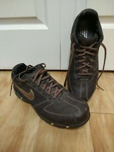 Nike Sport Performance Brown Leather Golf Shoes Size 11.5 W