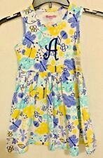 """Nannette Kids Sz 6 Spring-Summer Dress Lot of 2 Sleeveless Embroidered with """"A"""""""