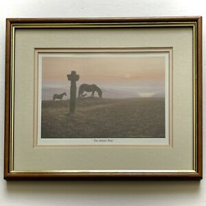 "VINTAGE FRAMED DAVID J LAWRENCE PRINT OF NATURE SCENE ""THE ABBOTS WAY"""