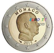 2 €     MONACO   PRINCE ALBERT  2015     PIECE   NEUVE        Disponible