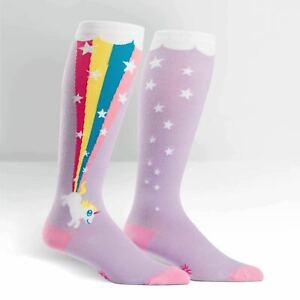 Sock It To Me  Womens Knee High Socks - Rainbow Blast
