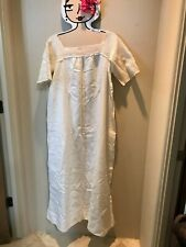New listing Pretty Vintage Linen Nightgown With Crochet Top