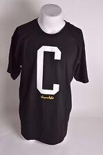 NWOT MENS CHOCOLATE C T-SHIRT L black white yellow short sleeve crewneck graphic