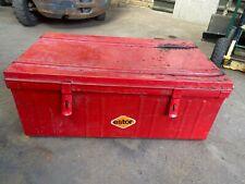 Retro Metal Steel Storage Box Large With Handles WEST YORKSHIRE £40 !!
