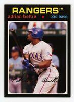 1971 Topps #81 ADRIAN BELTRE Texas Rangers BASEBALL RARE CARD- 2012 ARCHIVES
