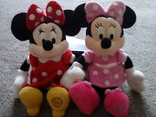 "Disney Store Exclusive Minnie Mouse x 2 Soft Plush 13"""