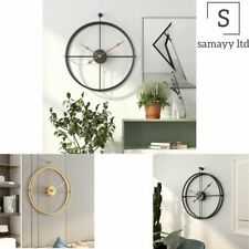 Metal Wall Clock Large Vintage Modern Design For Home Office Decor Hanging Watch