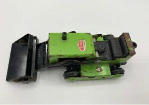 Tonka Bulldozer Small Dozer Green/Black Pressed Steel Early 1970s Used
