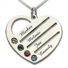 Liebe & Herzen behandelter Echtschmuck-Halsketten & -Anhänger aus Sterlingsilber