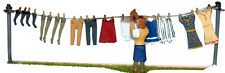 Washing Line Clothes 1930/50 OF7 UNPAINTED O Scale Langley Models Kit Figures