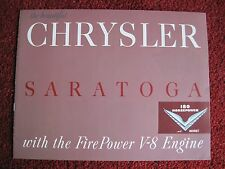 1952 Chrysler Sales Catalog - Saratoga