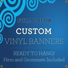 2' X 2' Full Color Custom Banner 13oz Vinyl Outdoor Personalized ( Free design )