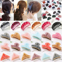 Large Scrub Plastic Hair Claw Clips Women Hollow Carving Hairpin Clamp Accessory