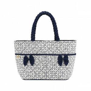 NaRaYa Twin Ribbons Handbag Printed Fabric