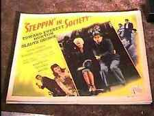 STEPPIN IN SOCIETY 22X28 MOVIE POSTER '45 GREAT VINTAGE