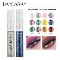 HANDAIYAN Glitter Eyeshadow Liquid Metallic Eyes Makeup Shimmer Eye Shadow