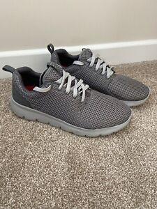 Mens Grey Skechers Size 8 Memory Foam Air Cooled