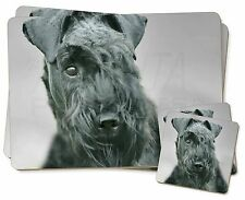 Kerry Blue Terrier Dog Twin 2x Placemats+2x Coasters Set in Gift Box, AD-KB1PC