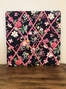 Vera Bradley Pink RibbonsBulletin Board Memory Ribbon Board  18 x 18